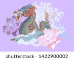 hand drawn dragon tattoo ... | Shutterstock .eps vector #1422900002