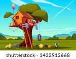 Child On Tree House  Little...