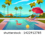 swimming pool in hotel or... | Shutterstock .eps vector #1422912785
