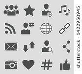 social media icons. sticker...
