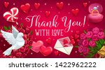 wedding reply card with flower...   Shutterstock .eps vector #1422962222