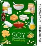 soy food products vector design ... | Shutterstock .eps vector #1422962342