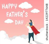 vector of happy father's day... | Shutterstock .eps vector #1422977648