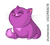 cartoon funny fat cat... | Shutterstock . vector #1422983678