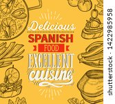 spanish cuisine illustrations   ... | Shutterstock .eps vector #1422985958