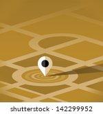 map pin pointer vector icon... | Shutterstock .eps vector #142299952