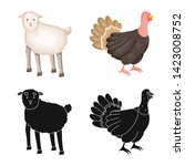 vector design of breeding and... | Shutterstock .eps vector #1423008752