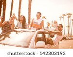 group of young people at venice ... | Shutterstock . vector #142303192