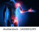 Painful Joints   3d Illustration