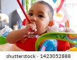 portrait of a little baby boy...   Shutterstock . vector #1423052888