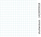 checkered notebook sheet vector ... | Shutterstock .eps vector #1423055018