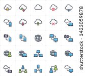 icon set   network and... | Shutterstock .eps vector #1423059878