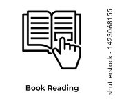 icon of book reading in line... | Shutterstock .eps vector #1423068155