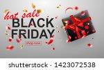 black friday sale banner. gift...   Shutterstock .eps vector #1423072538