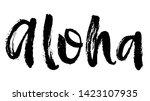summer brush lettering... | Shutterstock .eps vector #1423107935