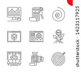 seo related vector line icons... | Shutterstock .eps vector #1423117925