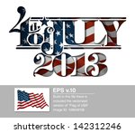 forth of july 2013 lettering...   Shutterstock .eps vector #142312246