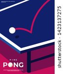 ping pong poster template.... | Shutterstock .eps vector #1423137275