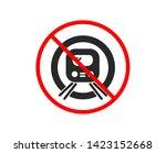 no or stop. metro subway... | Shutterstock .eps vector #1423152668