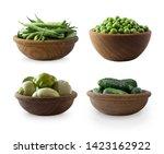 Fresh Green Vegetables Isolated ...
