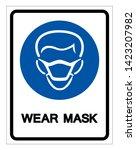 wear mask symbol sign vector... | Shutterstock .eps vector #1423207982
