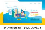 Summer Language Camp. Cartoon...