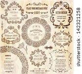 vector set  calligraphic design ... | Shutterstock .eps vector #142321258