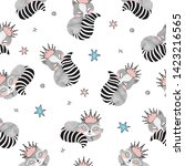 princess raccoon with stars...   Shutterstock .eps vector #1423216565
