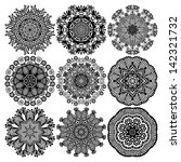 circle lace ornament  round... | Shutterstock . vector #142321732