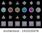 celtic symbols. stone coins and ... | Shutterstock .eps vector #1423220378