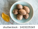 Whole Nutmeg In A Bowl