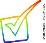 rainbow gradient line drawing... | Shutterstock .eps vector #1423240322