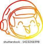 warm gradient line drawing of a ... | Shutterstock .eps vector #1423246598