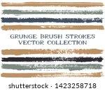 long ink brush strokes isolated ... | Shutterstock .eps vector #1423258718