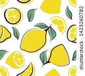 lemon seamless pattern of color ...   Shutterstock .eps vector #1423260782