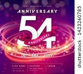 54 years anniversary logo... | Shutterstock .eps vector #1423260785