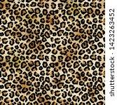leopard vector seamless pattern ... | Shutterstock .eps vector #1423263452