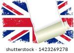grunge flag of great britain... | Shutterstock .eps vector #1423269278
