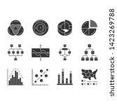 diagrams glyph icons set.... | Shutterstock .eps vector #1423269788