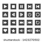 round media player button... | Shutterstock .eps vector #1423270502