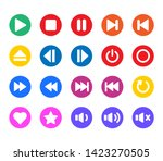 round color media player button ... | Shutterstock .eps vector #1423270505