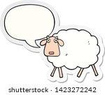 cartoon sheep with speech... | Shutterstock .eps vector #1423272242