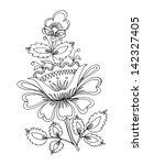 hand drawn  vector ... | Shutterstock .eps vector #142327405