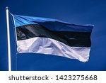 flag of estonia over waving... | Shutterstock . vector #1423275668