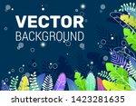 dark blue background in trendy... | Shutterstock .eps vector #1423281635