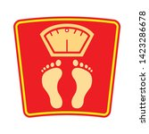 weight scale   icon. flat... | Shutterstock .eps vector #1423286678