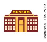 museum icon. flat illustration... | Shutterstock .eps vector #1423292615
