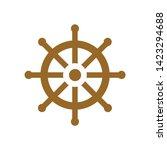 boat wheel icon. flat... | Shutterstock .eps vector #1423294688