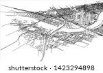 outline city concept vector....   Shutterstock .eps vector #1423294898