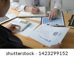 managers and accountants have... | Shutterstock . vector #1423299152